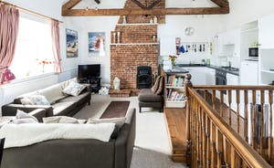 Stunning vaulted ceilings with beautiful wooden beams