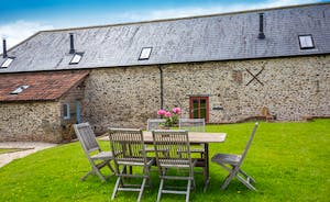Wagtail Corner, Stonehayes Farm - the cottage has its own garden area overlooking the fields