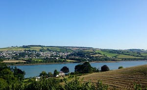 Clare Park, looking out over the garden and the river teign