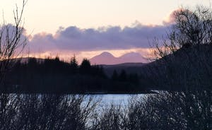 Paps of Jura in the distance