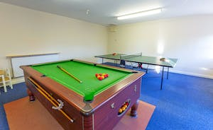 Pippinsands: Pool, table tennis and table football in the shared games room