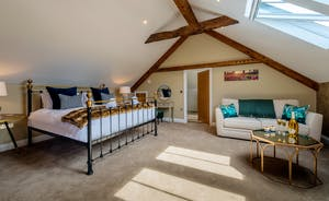 Croftview - Bedroom 10 (Barn Owl) is a second floor room with the option of a sofa bed too