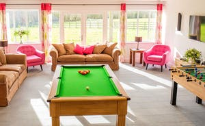 Fuzzy Orchard - Awesome bright and airy games room with a pool table and table football