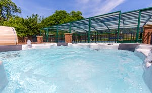 Wayside: Not only a private pool, but a hot tub and a sauna too