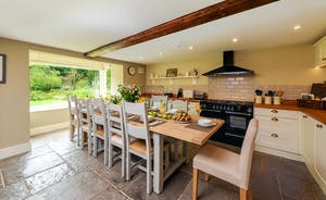Pitsworthy: The kitchen has a big picture window giving an outlook over the garden