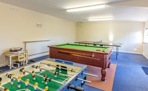 Wagtail Corner, Stonehayes Farm - There's a shared games room with pool, table tennis and table football