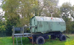 East German cold war communications trailer