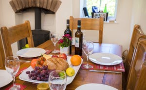 Ready for Dinner at Railway Cottage by the cosy Wood Burner