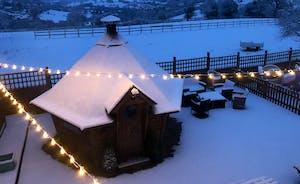BBQ Hut in Snow