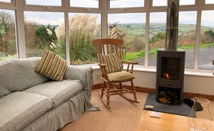 Conservatory with woodstove