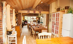 Characterful kitchen through to fabulous dining room
