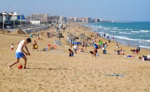 La Mata blue flag beach less than 1 mile (1.5km) away