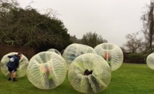 Bubble football Bristol at the Grange