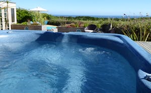 sea view hot tub enjoy!