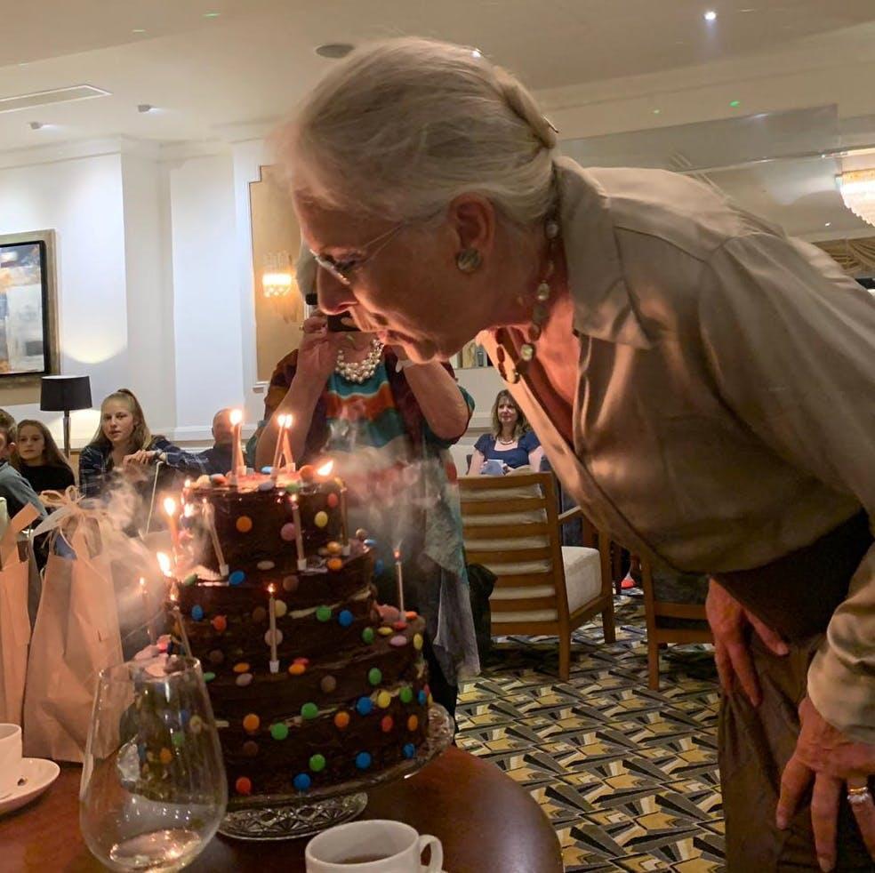 Birthday Cake at Saunton Sands