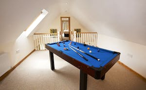 Crowcombe - Fun for all, the mezzanine area with pool table