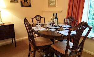 Coachmans Cottage, Steeple Ashton, Wiltshire, BA14 6HH. Dining table for 4