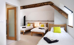 Pipits Retreat, Stonehayes Farm: Bedroom 2 sleeps 3, plus room for a cot