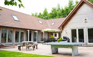 Cockercombe - a luxurious timber clad lodge in a wonderful setting at the foot of the Quantock Hills