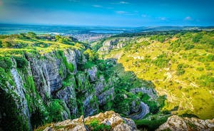 Cheddar Gorge with its famous caves makes a great daytrip for the family