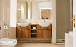 The Old Rectory - Chic modern styling in the Stannard Suite en suite bathroom, with a bath and separate shower