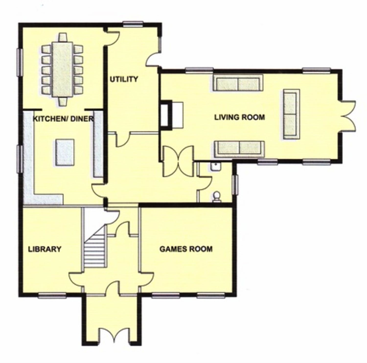 Floorplans viney hill country house gloucestershire for Floor plans first