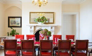 The Old Rectory - The delightful dining room is perfect for a celebratory meal