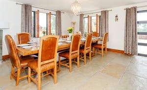 Huge dining table for those special evenings