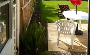 Patio & outdoor seating by kitchen door