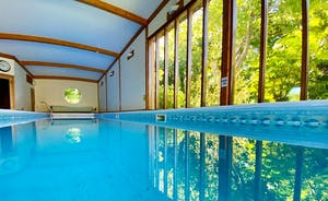 The Cottage Beyond: Full height windows mean the spa hall is flooded with natural light