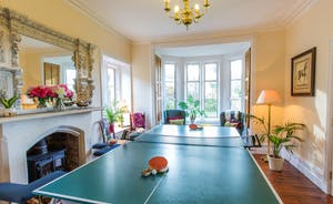 The Old Rectory - the snooker table easily converts for table tennis