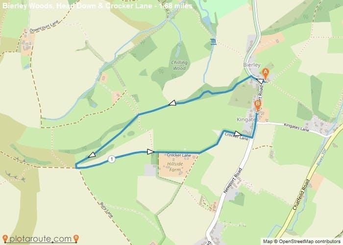 Bierley woods, Head Down & Crocker Lane Walk