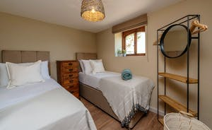 Whimbrels Barton - Bean Goose Barn: Bedroom 4 is a ground floor room with zip and link beds