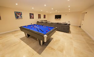 Quantock Barns - There's a Games Room with a kitchen area, pool table and plenty of comfy seating - perfect for gathering together to watch a movie
