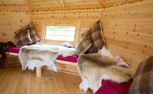 Fuzzy Orchard - Reindeer blankets to snuggle up in, big cushions, twinkly lights .... bliss!