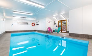 Heated indoor pool ideal for families