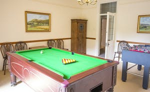 Bossington Hall - Pool and table football in the first floor Games Room