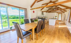 Dippers Rest, Stonehayes Farm - A light and airy kitchen/diner with French doors that give views over the valley