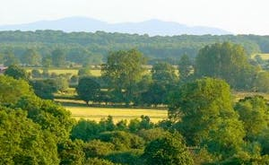 Beautiful views to be seen from the top of our bank across  Worcestershire The Malvern Hills and  Bredon Hills