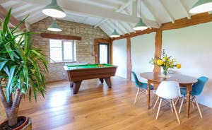The Plough: The pool table is right down the end of the L shaped sitting room/games room