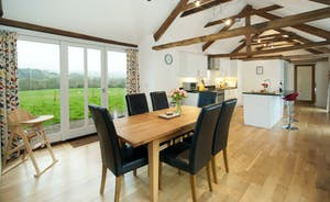 Whinchat Barns - Dippers Rest: A view over the valley from the dining table