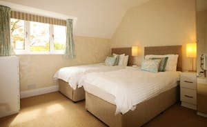 Bedroom 5, can be made up as a super king or as twin beds.