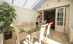 Dining area in the conservatory