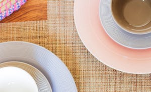 Fresh pastel crockery