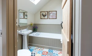 Large bathrooms with beautiful fittings