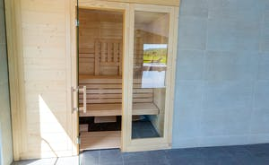 Shires - There's a sauna in the spa hall - such luxury!