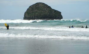 Gull Rock at Trebarwith Strand