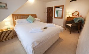 Halse Water House - Bedroom 4 is a double room and shares the shower room on the ground floor.