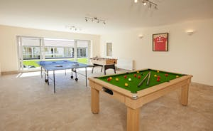 Holemoor Stables - there's table tennis, table football and a pool table in the Games Room