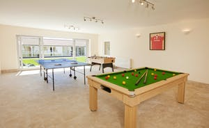 Holemoor Stables: There's table tennis, table football and a pool table in the Games Room